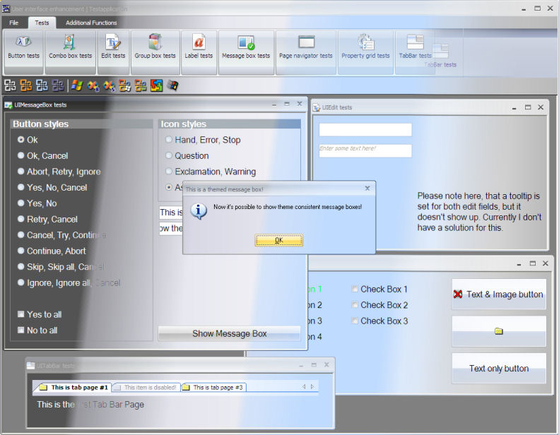 SQLWindows.UserInterface Screenshot